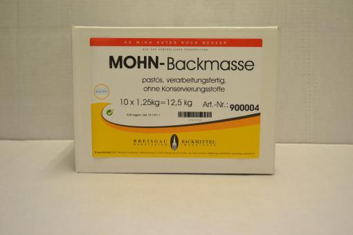 Mohn-Backmasse im Beutel