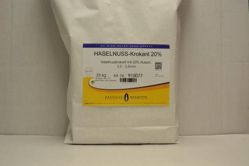 Haselnuss-Krokant 20%